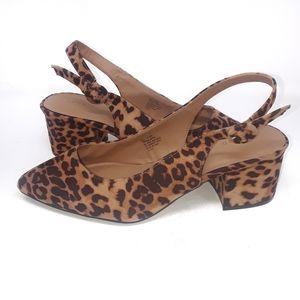 Torrid Leopord Print Sling Back Heels Size 10.5